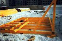 2. Первый этап постройки (не считая фундамента) — изготовление обвязки