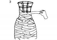 3. Покрытие полосками ткани