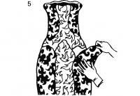 5. Обклейка вазы оберточной бумагой