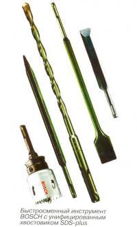 Быстросменный инструмент с унифицированным хвостовиком SDS-plus
