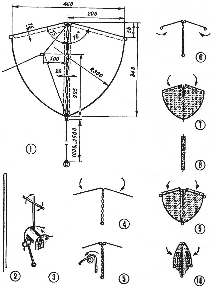 Чертеж и детали воздушного змея