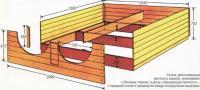 Чертеж и размеры оригинальной кровати