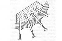 Деревянный шаблон для изготовления полозьев