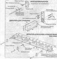 Детали держателя инструментов