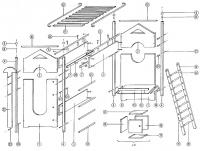 Детали для изготовления кровати