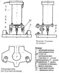 Детали и чертеж гравера