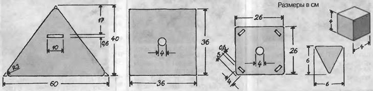 Детали и размеры абажура
