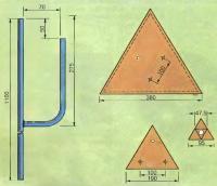 Детали и размеры подсвечника