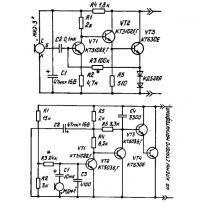Две схемы микрофонных усилителей