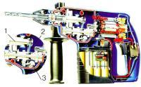 Электромеханический перфоратор в разрезе