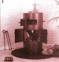 Фото 1. Печь цилиндрическая