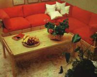 Гарнитур из стола и углового дивана