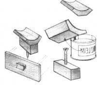 Использование обрезков погонажных изделий