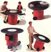 Использование стола-гриля