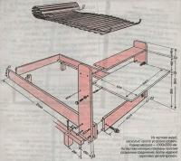 Из чертежа видно, насколько просто устроена кровать
