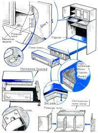 Изготовление элементов шкафа-кровати