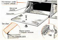 Изготовление шкафа с откидной дверцей