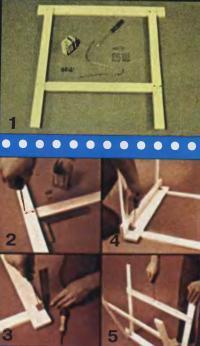 Изготовление складных козел