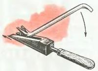 Клиновая вилка для вытаскивания гвоздей