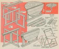 Конструкция стола и стула