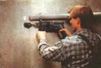 Коронками можно просверливать отверстия в стенах диаметром от 25 до 105 мм