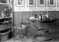 Кованая мебель смотрится стильно