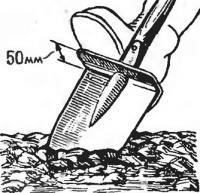 Лопата с педалью