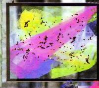 Лоскуты тюля розового, голубого и зеленого цвета