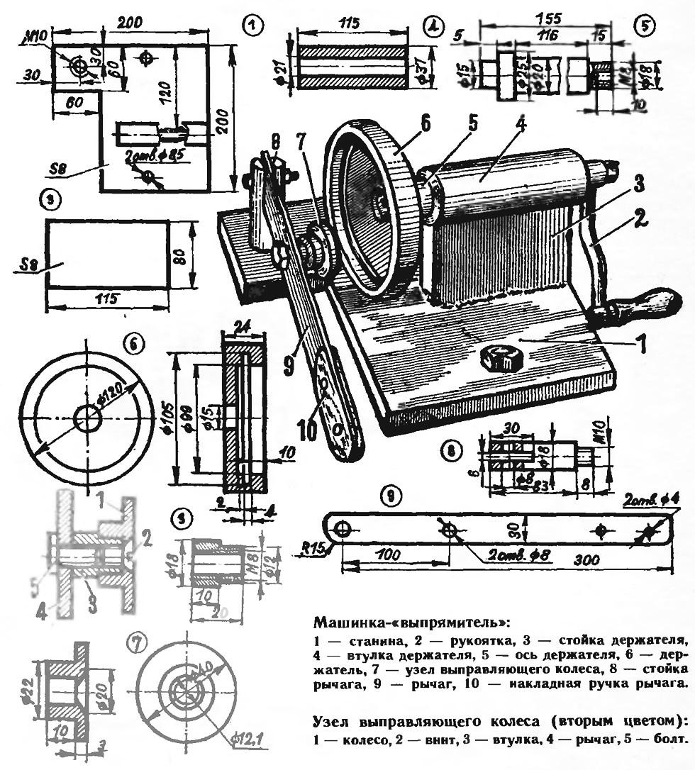 Машинка-«выпрямитель» для крышек