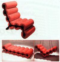 Мебель из поролоновых валиков