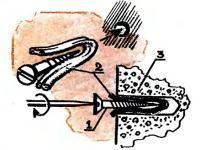 Надежно укрепить шуруп в стене