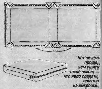 Чехол на подушку своими руками выкройка 96
