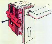Новый удлиненный на 15-18 мм запорный цилиндр устанавливаем вместо старого