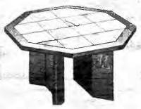 Облицовка круглого стола