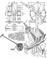 Общий вид и схема ручной сеялки