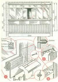 Общий вид остекления и элементы