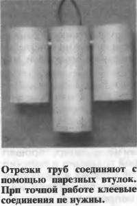 Отрезки труб соединяют с помощью нарезных втулок
