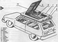 Палатка на багажнике автомобиля