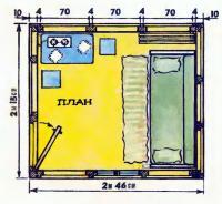 План и размеры домика