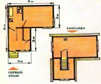 План комнат домика