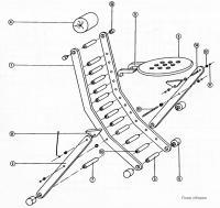 План сборки стула