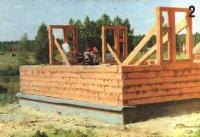Подготовка к строительству и закладка фундамента