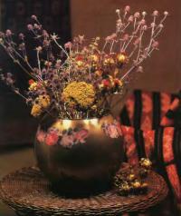 Полученная ваза с цветами