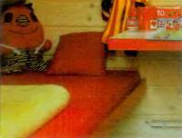 Поролоновый матрас для тахты обшит плотной декоративной тканью