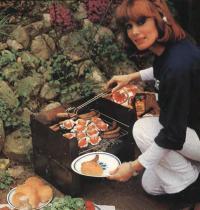 Приготовление еды в гриле