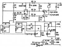 Принципиальная электрическая схема устройства