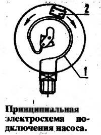 Принципиальная электросхема подключения насоса