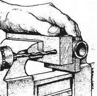 Просверлить трубу сквозь брусок