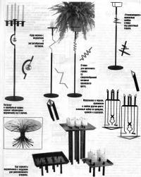 Различная кованая мебель и предметы интерьера