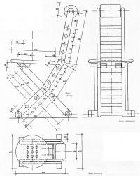 Размеры и конструкция стула